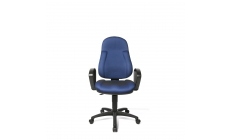 Malaga - Swivel Armchair With Moulded Seat and Back In BD6 Blue
