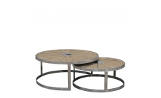 Georgetown - Set Of 2 Round Coffee Tables Smokey Grey