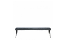 Copeland - Bench 160cm Grey PU With Black Metal Legs