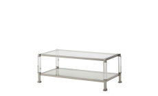 Vaughan - Coffee Table Polished Steel & Acrylic Frame