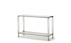 Vaughan - Console Table Polished Steel & Acrylic Frame