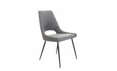 Alice - Dining Chair In Grey Faux Leather