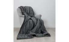 Laurence Llewelyn-Bowen Chic Velour Throw Slate