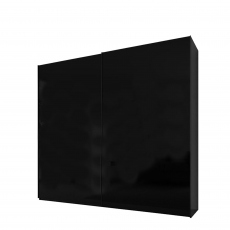 Malmo - 180cm Gliding Door Wardrobe Black Gloss/Matt