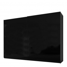 Malmo - 280cm Gliding Door Wardrobe Black Gloss/Matt