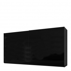 Malmo - 400cm Gliding Door Wardrobe Black Gloss/Matt