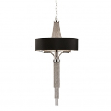 Astral Large Pendant Fitting With Black Shade