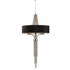 Astral Small Pendant Fitting With Black Shade
