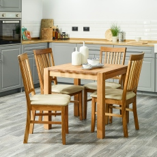 Royal Oak - Folding Dining Table Solid Oiled Oak Closed