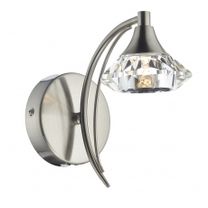 Lena SingleWall Light Satin Chrome