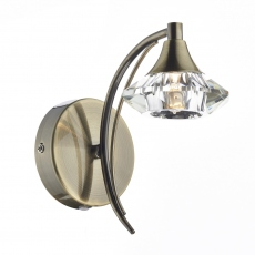 Lena SingleWall Light Antique Brass