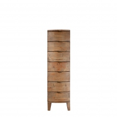 Fairmont - 7 Drawer Tall Chest, Reclaimed Timbers In Sundried Wheat Finish