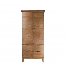 Fairmont - Small Double Wardrobe, Reclaimed Timbers In Sundried Wheat Finish