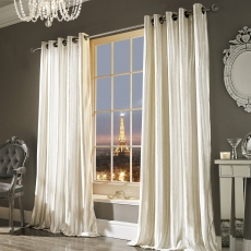Iliana Oyster - Eyelet Curtains