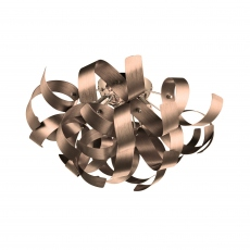Papardalle 4 Light Flush Satin Copper