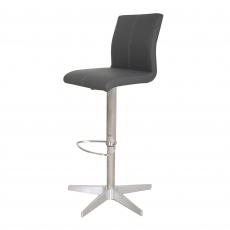 Sydney - Adjustable Bar Stool With Frame 52 In Grey Faux Leather