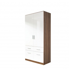Amalfi - 2 Door 4 Drawer Combi Robe Height 197cm