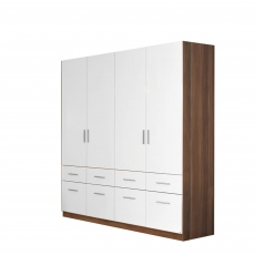 Amalfi - 4 Door 8 Drawer Hinged Combi Robe Height 197cm