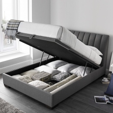 Vernon - Ottoman Bed Frame In Elephant