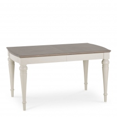 Chateau - 140cm Extending Table In Grey Washed Oak & Soft Grey