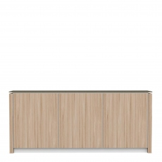 Calligaris Mag - CS/6029-6C - 3 Door Sideboard Internal Frame Melamine White Doors Natural Veneered
