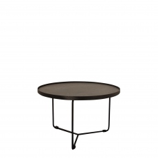 Cattelan Italia Billy Keramik - 60 x 48cm Side Table Marmi Ceramic Top & Black Base