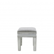 Madison - White Mirror Stool