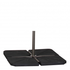 100KG Free Arm Garden Parasol Base Black