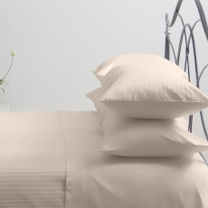 Hotel Stripe Ivory Superking Duvet Set