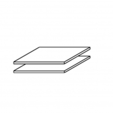 Viva - Pack Of 2 43cm Shelves