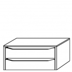 Viva - 88cm Internal 2 Drawer Unit