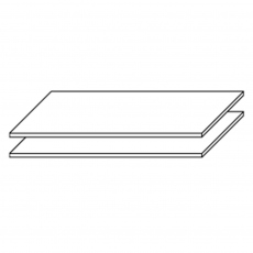 Reflection - Pack Of 2 111cm Shelves