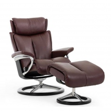 Stressless Magic Large - Chair & Stool With Signature Base
