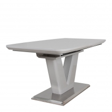 Pluto - 160cm Extending Dining Table Grey High Gloss