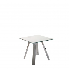 Cantania - Lamp Table With White Marbled Ceramic Top