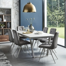Amarna - 200cm Dining Table And 6 Dalton Chairs