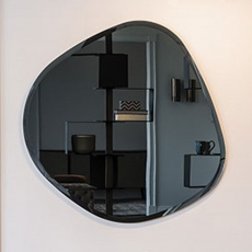 Cattelan Italia Hawaii - Bevelled Mirrored Smoke-Grey Glass Wall Mirror