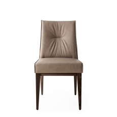 Calligaris Romy - CS/1912-V Dining Chair In S0A Desert Fabric With P12 Smoke Frame