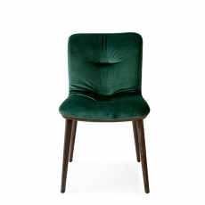 Calligaris Annie - CS/1846 Dining Chair In S0H Forest Green Fabric With P12 Smoke Frame