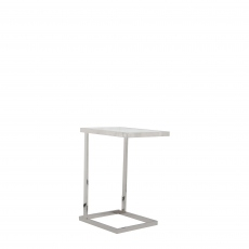 Trento - End Table With Clear Glass Top/Stainless Steel