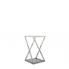 Trento - Medium Glass Top Plant Table