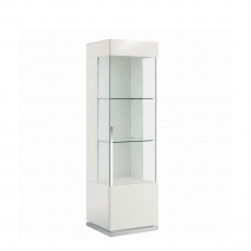 Bernini - 1 Door Right Curio Cabinet White High Gloss