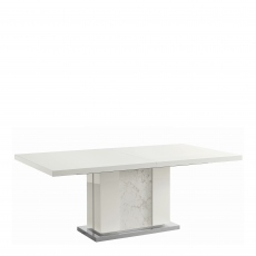 Bernini - 196cm Extending Dining Table White High Gloss