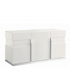 Bernini - 3 Door Buffet White High Gloss