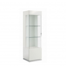 Bernini - 1 Door Left Curio Cabinet White High Gloss
