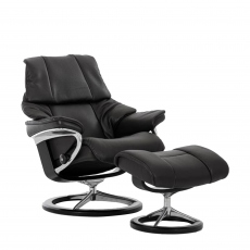 Stressless Reno Large - Chair & Stool With Signature Base