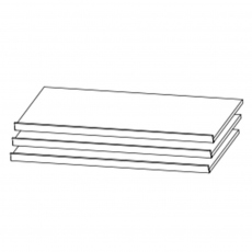 Reflection - 88cm Set Of 3 Shoe Shelves
