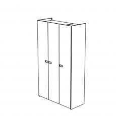 Venice - 3 Door Hinged Wardrobe High Gloss Cream Lacquer