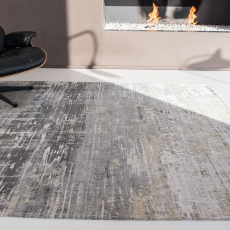 Atlantic Collection Streaks Rug 8716 Coney Grey 280 x 360cm