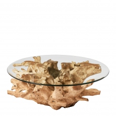 Java - 90cm Coffee Table With Glass Top